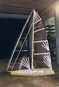 Рис. 6. Испытание модели яхты класса