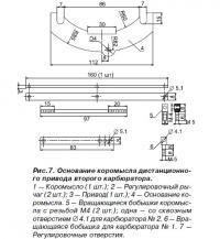 Рис. 7. Основание коромысла дистанционного привода второго карбюратора