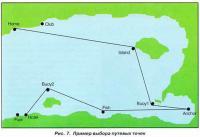 Рис. 7. Пример выбора путевых точек