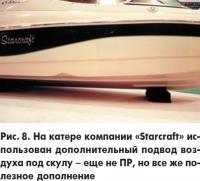 Рис. 8. На катере компании «Starcraft» использован дополнительный подвод воздуха под скулу