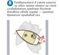 Рис. 8. Разверот в узком канале за один прием