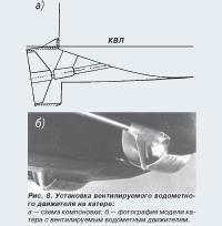 Рис. 8. Установка вентилируемого водометного движителя на катере