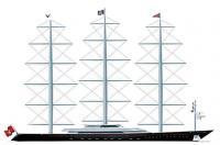 Рисунок будущей яхты