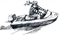 Рисунок мотолодки Стриж