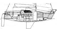 Рисунок яхты «ЛЭС-750»