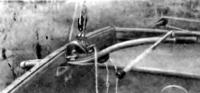Румпель с удлинителем и стопор гика-шкота