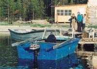 """Рыбаки на Белом море доверяют импортным моторам (рыболовная база """"Соностров"""")"""