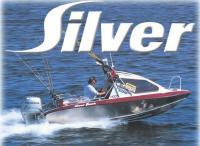 Рыболовный вариант мотолодки Silver Hawk на ходу