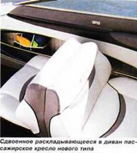 Сдвоенное раскладывающееся в диван пассажирское кресло нового типа