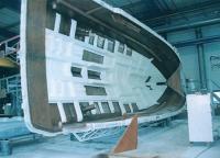 Секция корпуса моторной яхты серии