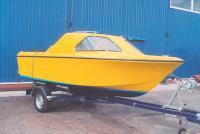 Сферическая лодка на вакуумном трейлере