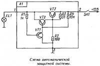 Схема автоматической защитной системы