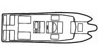 Схема катера «Хайдрокэт», вид сверху