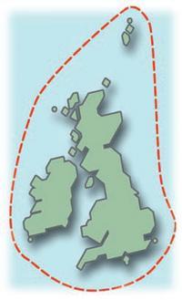 Схема маршрута гонки вокруг Британии