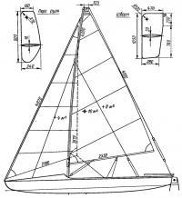 Схема парусного вооружения, шверт и перо руля