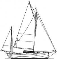 Схема парусности яхты «Корниш иол»