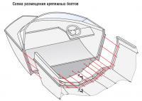Схема размещения крепежных болтов