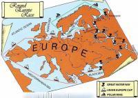 Схема регаты Round Europe Race — 2000