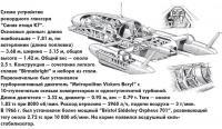 """Схема устройства рекордного глиссера """"Синяя птица К7"""""""