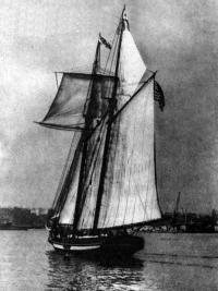 Шхуна «Гордость Балтимора II» под парусами