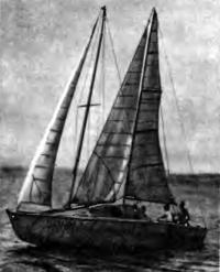 Швертбот «Дюйм» под парусами