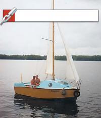 Швертбот Синичка под парусами