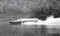 """Синяя птица К7"" на рекордной скорости. Оз. Конистон,1957 г."