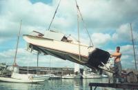 Спуск катера на воду