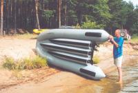 Спуск на воду лодки Фрегат-380FM