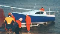 Спуск яхты на воду