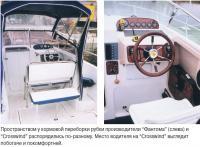 Сравнение места водителя катеров
