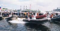 Старт гонок на надувных лодках