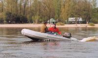 """Старт лодки """"Лидер-400"""""""