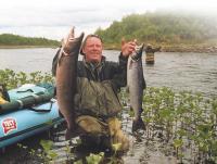 Такому улову лосося можно позавидовать