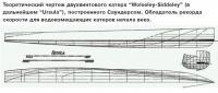 """Теоретический чертеж двухвинтового катера """"Wolseley-Siddeley"""""""