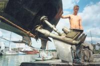 Транец катера с приводом Арнесона