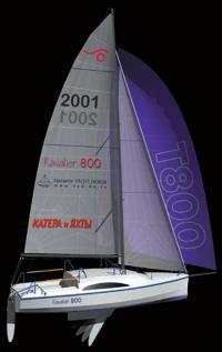 Трехмерное изображение экстерьера яхты Кавалер 800