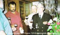 Три капитана: О. К. Седов, Г. В. Коломенский и И. Г. Шнейдер