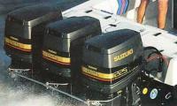Три подвесных мотора Suzuki EFI