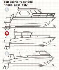 Три варианта катера Норд-Вест-65К