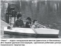 Умка — лодка с воздушным винтом (двигатель от бензопилы)