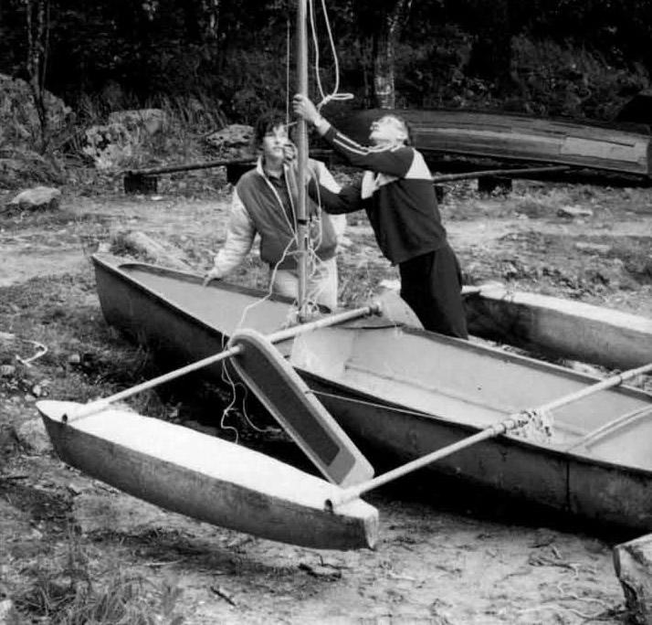 Установка мачты на тримаран