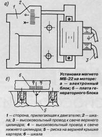 Установка магнето МБ-22 на моторе