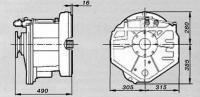 Установочные размеры коробки BW195VTS
