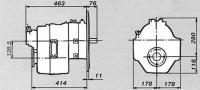 Установочные размеры коробки HSW90TS