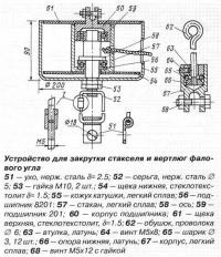 Устройство для закрутки стакселя и вертлюг фалового угла