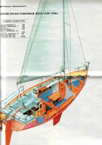 Устройство корпуса яхты «ЛЭС-750»
