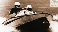 В. Бухарин и В. Красюк на катере