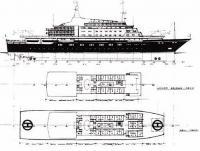 Вариант новой королевской яхты по проекту Аластейра Бернса