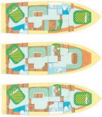 Варианты компоновки яхты «Pedro Solana 38»